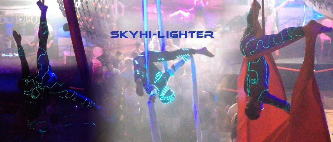 LED Show, skyhiLighter, aerial acrobatic
